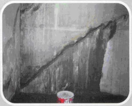 Infiltraţie de apă printr-o fisură transversală