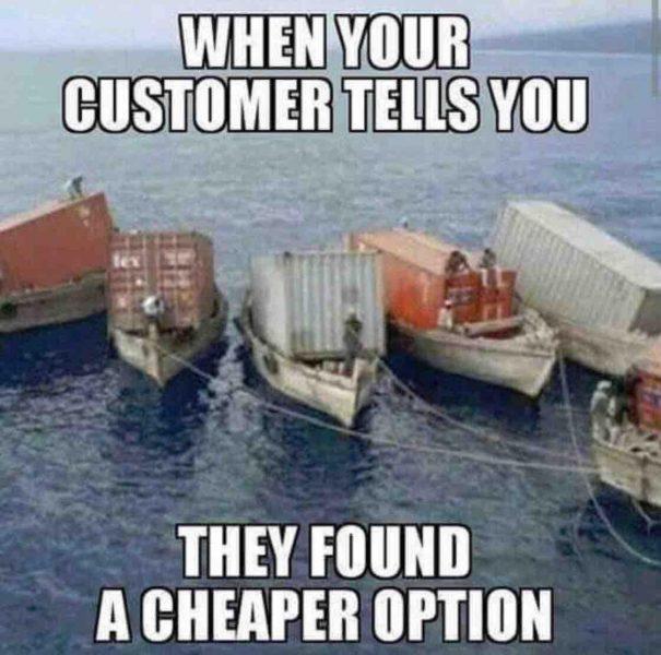 Când unii clienți spun că au găsit o soluție mai ieftină