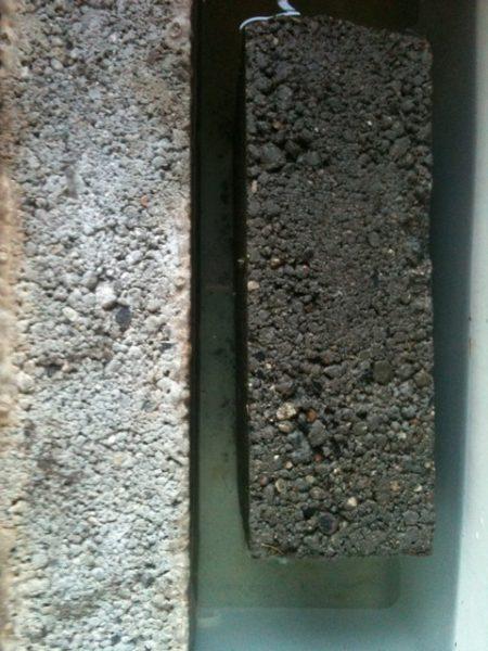 Boltarii din beton poros tratati cu Radmyx rezista